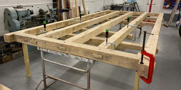 Wooden-foundation-of-shepherds-hut